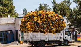 Free Lalibela, Ethiopia - Feb 12, 2020: Truck With Plastic Bottles In Tigray, Northern Ethiopia, Africa Royalty Free Stock Images - 200760019