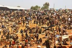Lalibela, Ethiopia: Rural market scene, unidentified people trading royalty free stock photos