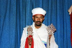 Lalibela priest Stock Images