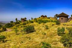 Lalibela, tukul, Etiopia Fotografie Stock