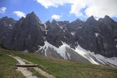 Laliderer wall. In Tirol (Karwendelgebirge) Austria Stock Photos