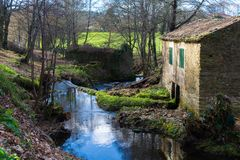 Lalin, Espagne - février 2018 photographie stock