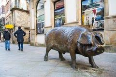 Lalin, Spanien - Februar 2018 stockfotografie