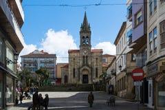 Lalin, Spanien - Februar 2018 stockfoto