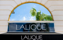 Lalique Retail Store Exterior. BEVERLY HILLS, CA/USA - APRIL 10, 2016: Lalique retail store exterior on famed Rodeo Drive royalty free stock image