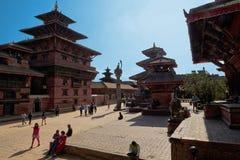 Lalitpur Durbar Square temples, Nepal Stock Image