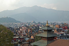 Lalitpur, Kathmandu rooftop view. Rooftop view of Lalitpur, Kathmandu before the earthquake damaged many of the buildings in 2015 Stock Image