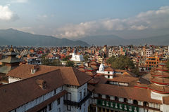 Lalitpur, Kathmandu rooftop view Stock Photography