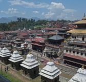 Lalitpur Katmandu Nepal tempel Royaltyfria Foton