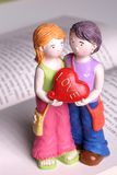lalka ręcznie cię kocham Obraz Stock