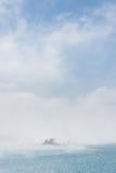 Lalu Island en la niebla Imagenes de archivo