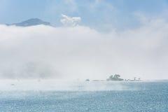 Lalu Island en la niebla Fotografía de archivo libre de regalías