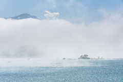 Lalu Island in the mist Royalty Free Stock Photography
