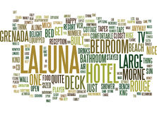 Laluna Hotel Morne Rouge Grenada Text Background  Word Cloud Concept Royalty Free Stock Photography