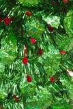 Lamé verde e rosso di Natale fotografie stock libere da diritti