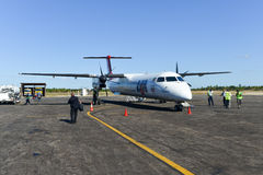 LAM Mozambique Airline Images libres de droits