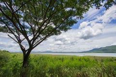 Magnificent views of Lam Takhong reservoir seen from Thao Suranari Park,Ban Nong Sarai,Pak Chong,Nakhon Ratchasima,Thailand. Stock Photography