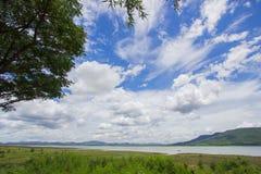 Magnificent views of Lam Takhong reservoir seen from Thao Suranari Park,Ban Nong Sarai,Pak Chong,Nakhon Ratchasima,Thailand. Stock Photo