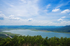 Lam Takong reservoir dam, Nakhon Ratchasima, Thailand Stock Photography