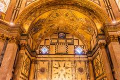 Lam van het Mozaïekkoepel Bapistry Heilige John Florence Italy van de Godsbijbel royalty-vrije stock foto's
