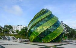 Lam Vien Square in Dalat, Vietnam. Dalat, Vietnam - Jul 5, 2016. Glass Building at Lam Vien Square in Dalat, Vietnam. Dalat is located 1,500 m 4,900 ft above sea Stock Photo