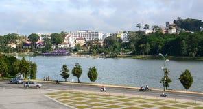 Lam Vien Square in Dalat, Vietnam. View of Lam Vien Square with the lake in Dalat, Vietnam Stock Photos