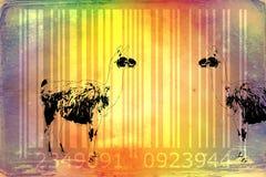 Lama barcode animal design art idea Royalty Free Stock Image