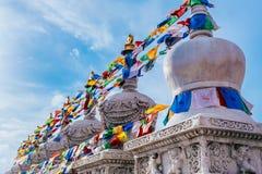 Lama Buddha Pagoda and Jingbian in Dazhao Temple Tourist Area, Hohhot City, Inner Mongolia royalty free stock photos