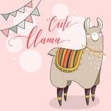 Lama dans le style de bande dessinée Images stock