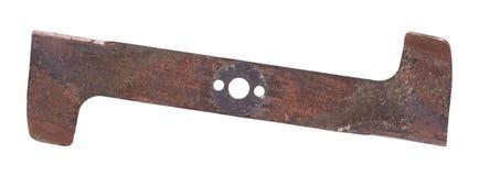 Lama della falciatrice da giardino, vecchio ed usato fotografie stock