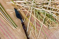 Lama di taglio di bambù Immagini Stock