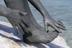 Lama do mar inoperante Fotografia de Stock