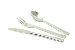 Lama e forcella del cucchiaio Fotografie Stock