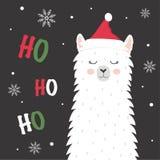 Lama mignon d'hiver illustration stock