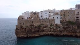 Panoramic view of Polignano. Puglia. Italy. stock footage