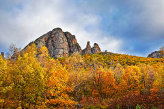 The Lama mountain of autumn woods surround Royalty Free Stock Images