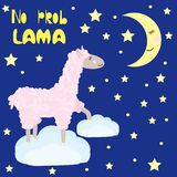 Lama no problama - vector illustration, eps royalty free illustration