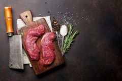 Lama o bistecca superiore cruda di Denver fotografie stock