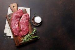 Lama o bistecca superiore cruda di Denver fotografia stock libera da diritti