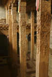 Lama-Tempel zur Unterstützung der Lichtstrahlspalte Lizenzfreie Stockbilder