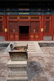 Lama temple, Beijing. Incense sticks burned as offering in the YongHeGong lama temple in Beijing, China Royalty Free Stock Photos