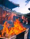 Lama Temple in Beijing. Altar with the sacred fire in Lama Temple in Beijing , China Royalty Free Stock Photos