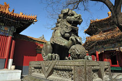The Lama Temple in Beijing China Royalty Free Stock Images