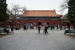 The Lama Temple Beijing. Beijing, China - March 29, 2010 - The Lama Temple Beijing royalty free stock photos