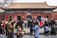 The Lama temple Beijing china Stock Photos