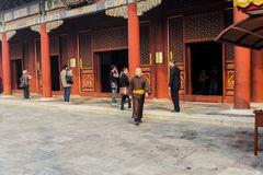 The Lama temple Beijing china Royalty Free Stock Image