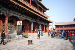 Lama Temple in Beijing, China. Royalty Free Stock Photos
