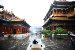 Lama temple in Beijing, China Stock Photos