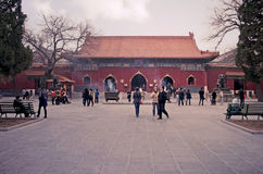 The Lama Temple Beijing (pastel). Beijing, China - March 29, 2010 - The Lama Temple Beijing royalty free stock photos
