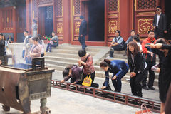 Lama temple in Beijing. The lama temple worship people in Beijing Royalty Free Stock Images